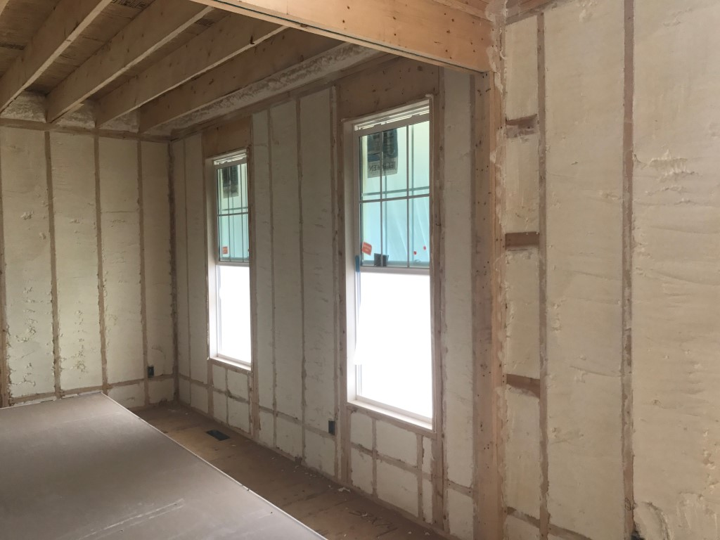 Spray foam insulation New Construction (1)