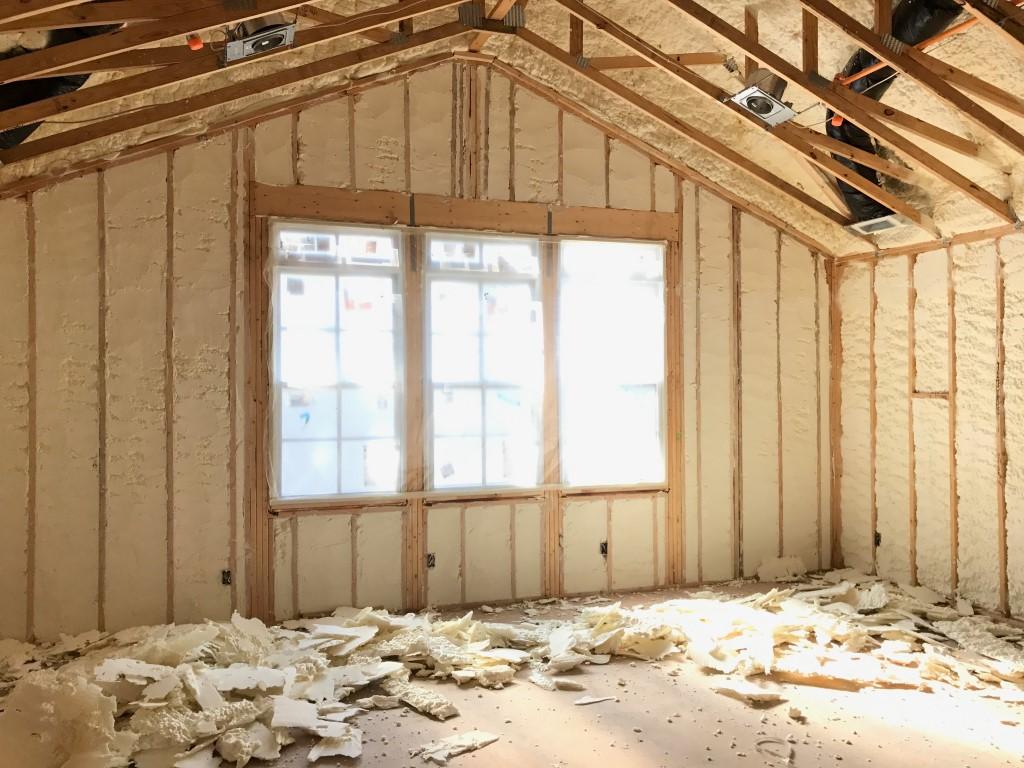 Spray foam insulation New Construction (10)