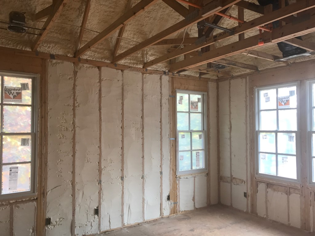 Spray foam insulation New Construction (12)