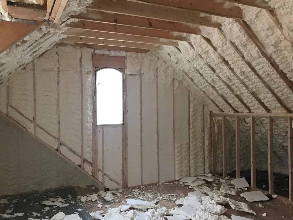 Spray foam insulation New Construction (19)
