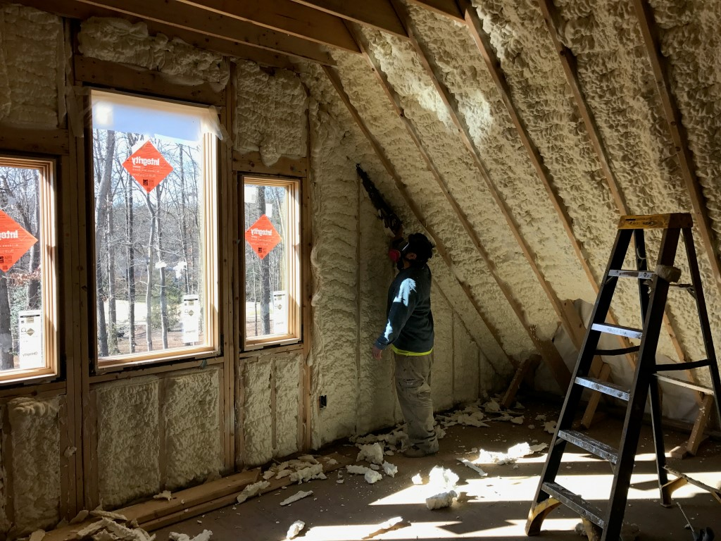 Spray foam insulation New Construction (25)
