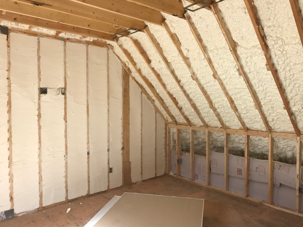 Spray foam insulation New Construction (5)
