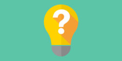 Illustration of light bulb with question mark for FAQs about spray foam insulation.